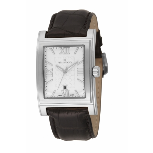 Pánské hodinky Helveco Zürich - stříbrné 8339b69be0