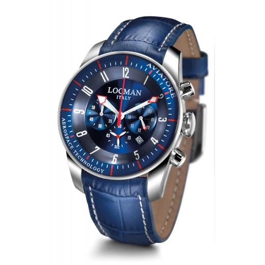 Pánské hodinky Locman Aviatore - modré