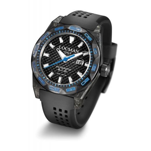 Pánské hodinky Locman Stealth 300m Carbon - modré