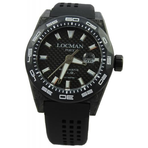 Pánské hodinky Locman Stealth 300m Carbon - černé