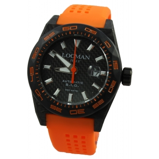 obrázek Pánské hodinky Locman Stealth 300m Carbon - oranžové