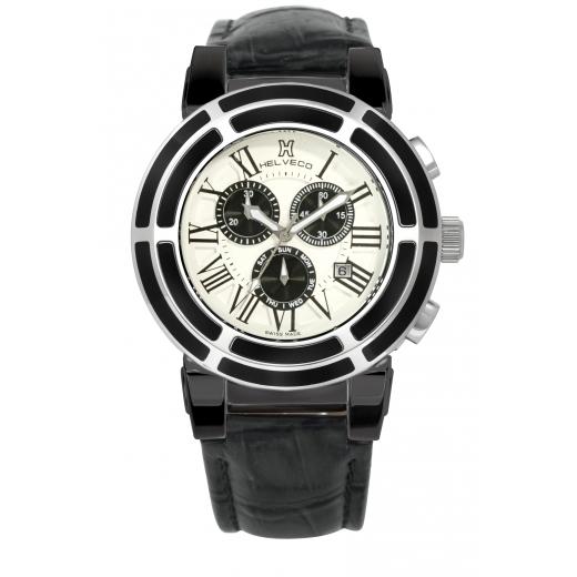 Pánské hodinky Helveco Wheel Crown - bílé
