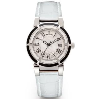 obrázek Dámské hodinky Helveco Wheel Crown - bílé