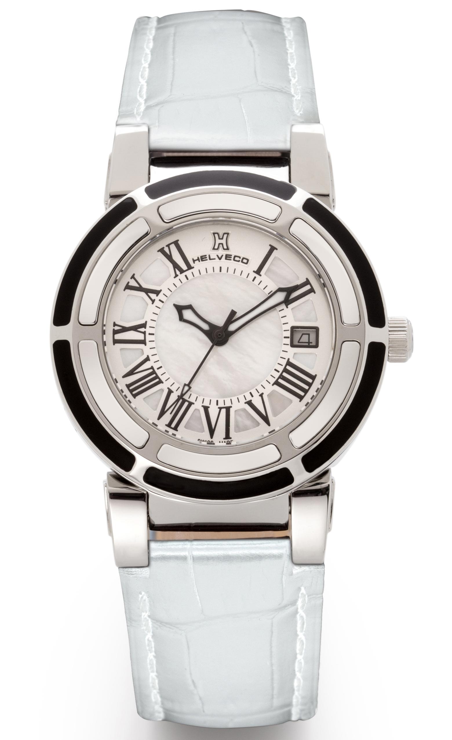 31bcef45d4e obrázek Dámské hodinky Helveco Wheel Crown - bílé