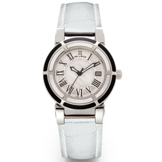 Dámské hodinky Helveco Wheel Crown - bílé