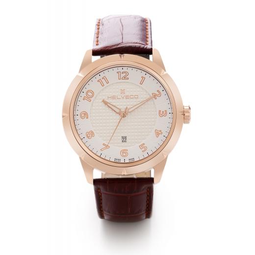 Pánské hodinky Helveco Neuchatel - zlaté