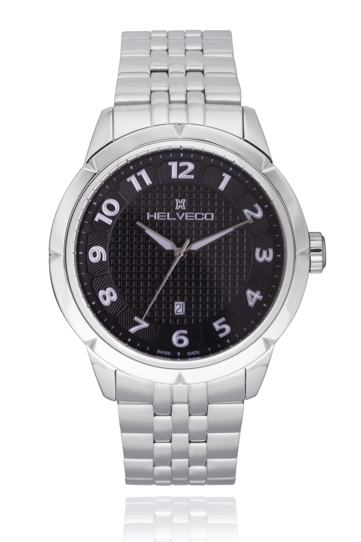 Pánské hodinky Helveco Neuchatel - černé  fb5649a3cc