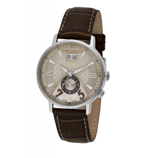 Pánské hodinky Helveco Pilatus - hnědé