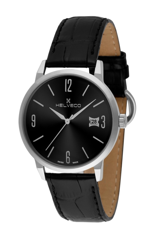 Pánské hodinky Helveco St.Gallen - černé  493f26afb5