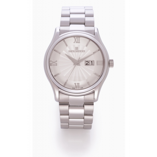 Pánské hodinky Helveco Arosa - stříbrné