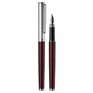 obrázek Plnící pero Otto Hutt Design 01 červené - víčko jemný proužek