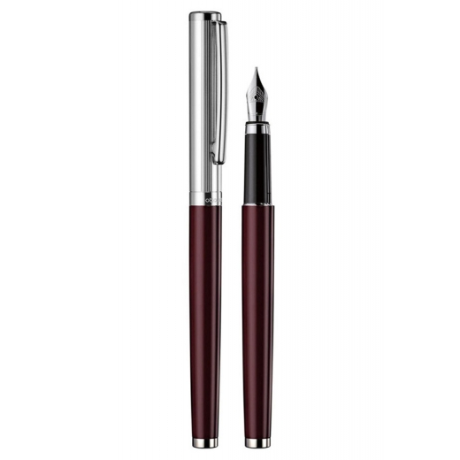 Plnící pero Otto Hutt Design 01 červené - víčko jemný proužek