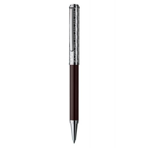 Kuličkové pero Otto Hutt Design 03 hnědé - víčko monogram