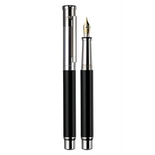 Plnící pero Otto Hutt Design 04 černé hladké - zlatý hrot