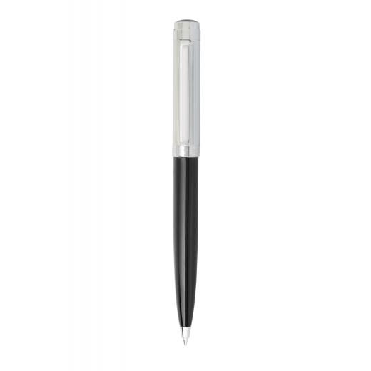 Kuličkové pero Helveco Neuchatel černo - stříbrné