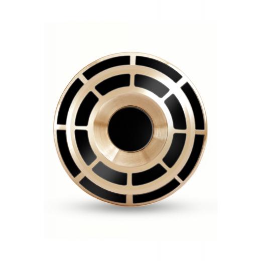 Manžetové knoflíčky Helveco Wheel Crown - zlaté
