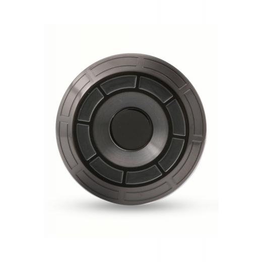 Manžetové knoflíčky Helveco Wheel Crown černé