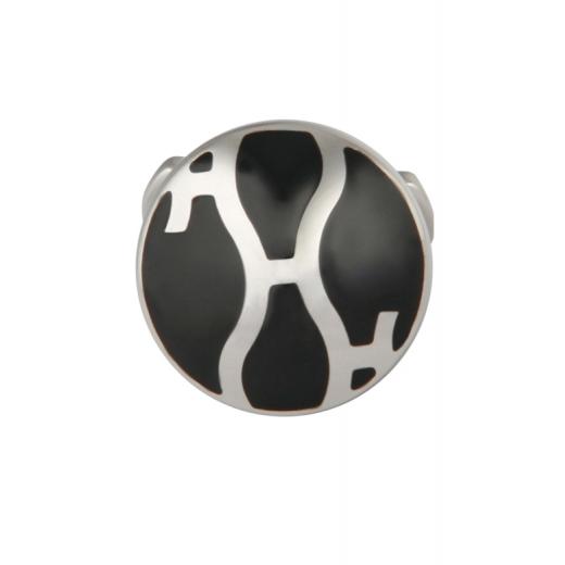 Manžetové knoflíčky Helveco 3H Collection - černo stříbrné
