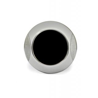 obrázek Manžetové knoflíčky Helveco Medallion - černo stříbrné
