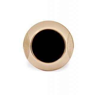 obrázek Manžetové knoflíčky Helveco Medallion - černo zlaté