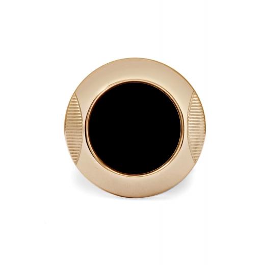 Manžetové knoflíčky Helveco Medallion - černo zlaté