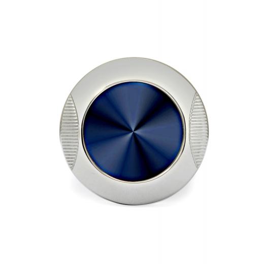 Manžetové knoflíčky Helveco Medallion - modro stříbrné