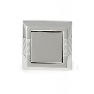 obrázek Manžetové knoflíčky Helveco Pyramid - stříbrné