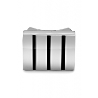 obrázek Manžetové knoflíčky Helveco Navy - stříbrné