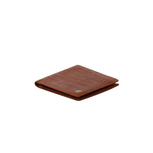 Kožená peněženka Helveco - světle hnědá kroko