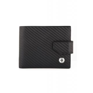 obrázek Kožená peněženka Helveco - černá karbon