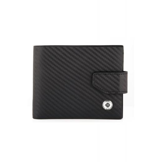 Kožená peněženka Helveco - černá karbon