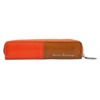 obrázek Pouzdro na pera - oranžovo hnědé