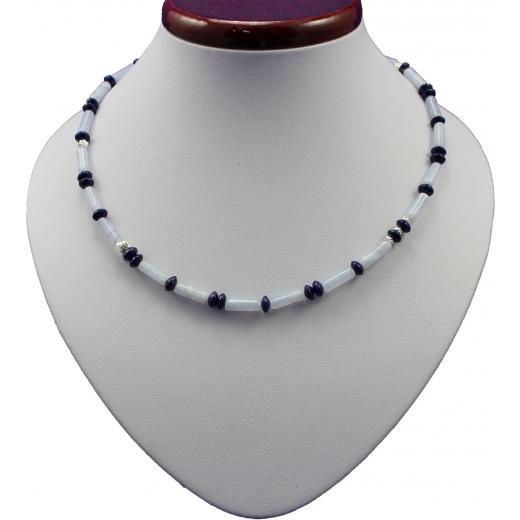 Náhrdelník Juvelis Gem - Chalcedon a Lapis Lazuli