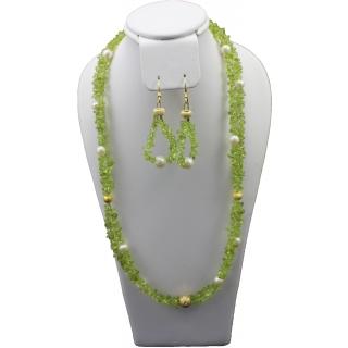 obrázek Sada šperků Juvelis Gem - Peridot a perly