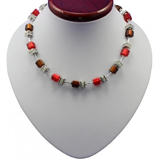 Náhrdelník Creative Design Kristal - rubin