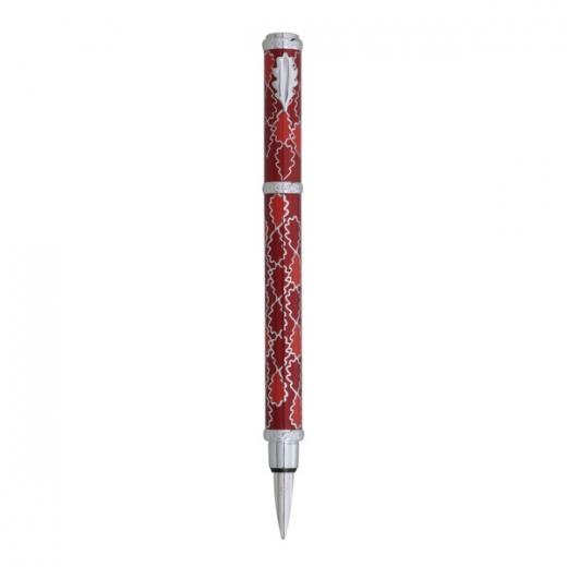 Plnící pero Ines de la Fressange Oak allover - červená
