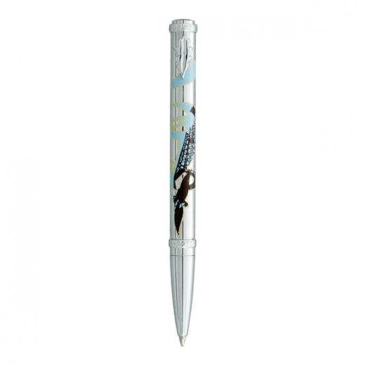 Kuličkové pero Ines de la Fressange Swallow  - stříbrná