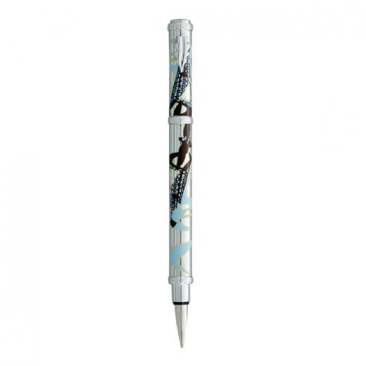 Plnící pero Ines de la Fressange Swallow  - stříbrná