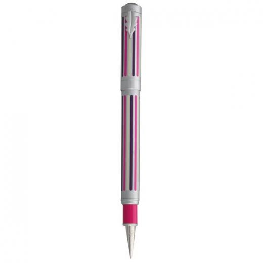 Plnící pero Ines de la Fressange Stripes quintet - růžová