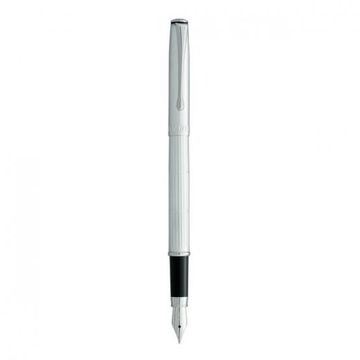 Plnící pero Vuarnet Torino - matně stříbrné