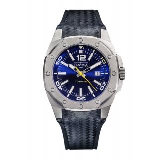 obrázek Pánské automatické hodinky Davosa Titanium - modré