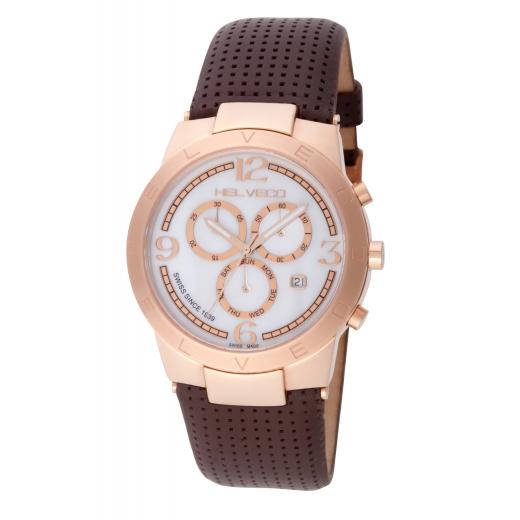 Pánské hodinky Helveco Constance Chrono - zlaté