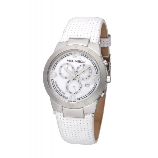 Pánské hodinky Helveco Constance Chrono - bílé