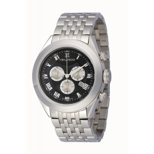 Pánské hodinky Helveco Davos Chrono - černé