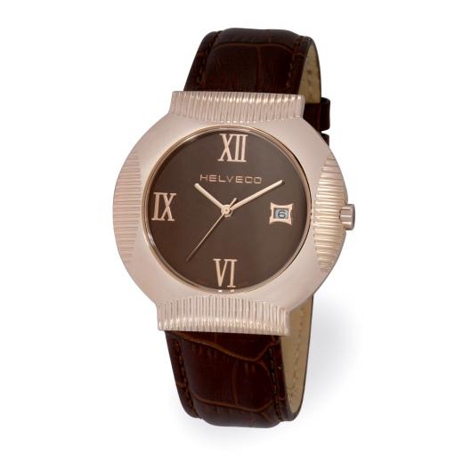 Pánské hodinky Helveco Medallion - hnědé
