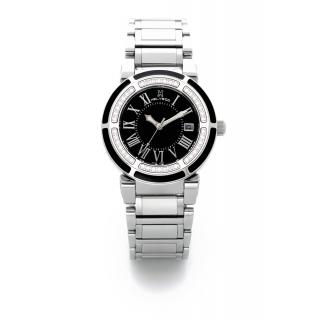 obrázek Dámské hodinky Helveco Wheel Crown - černé